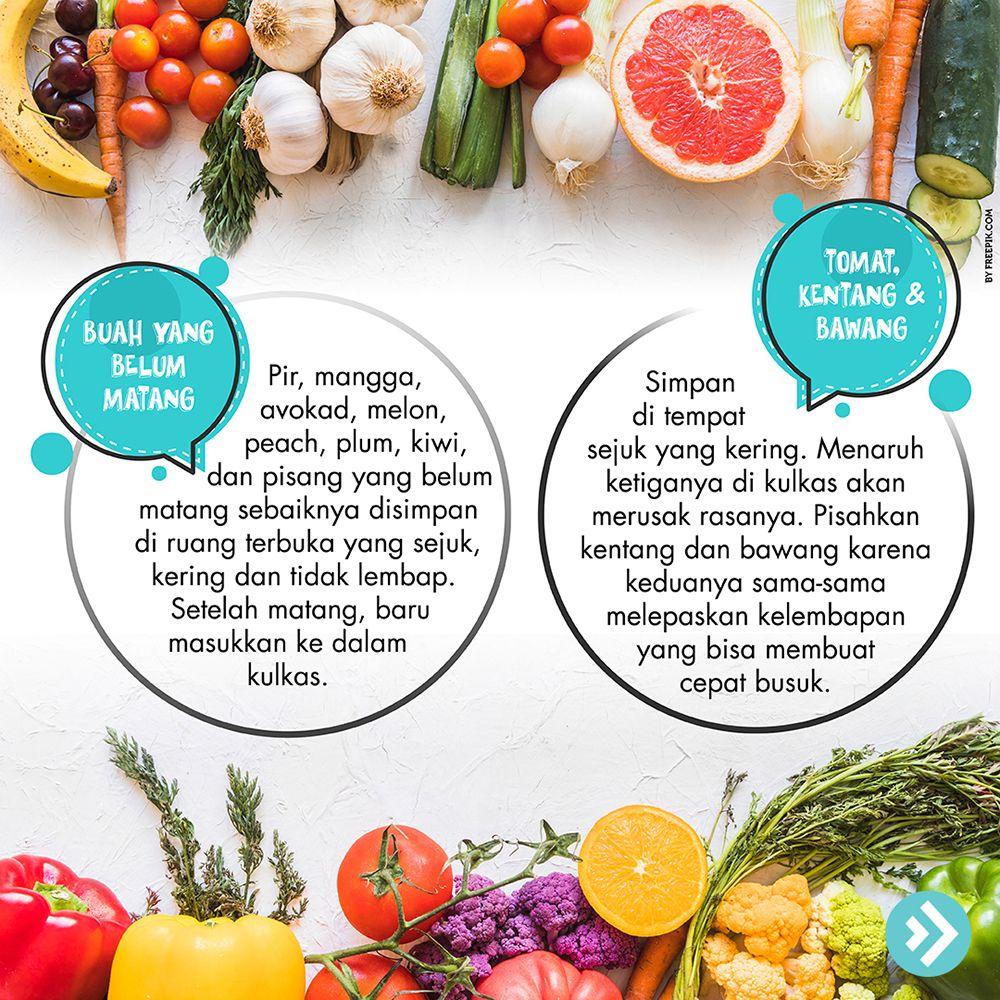 Cara menyimpan buah yang belum matang